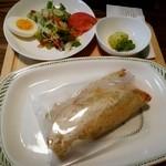40565144 - さすけねランチ(1280円) さすけねロール&サラダ&小鉢