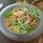 40566607 - ずわい蟹と水菜の冷製パスタ