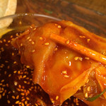つけ麺本舗 辛部 - キャベツafter  辛さ×30