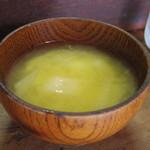 ひばり食堂 - 味噌汁