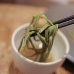 かわ村 - 2015.08再訪 握リゾットコース pasta: イタリア料理で汁に漬けて頂くとは斬新過ぎる☆