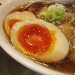 麺や 河野 - 煮玉子アップ