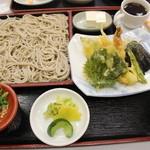 めしる - 日替りの天ざるそば定食500円