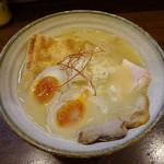 麺アトリエ 行 - 地どり味玉白湯らぁ麺