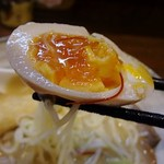 麺アトリエ 行 - しっかりした味の味玉