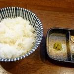 麺アトリエ 行 - 〆めしのセット