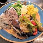 カフェ サバド - 豚肉と夏野菜の南蛮漬風(ランチセット)2015.08.04
