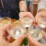 きくち - 2015/7/☆  日本酒で。。再び乾杯!!
