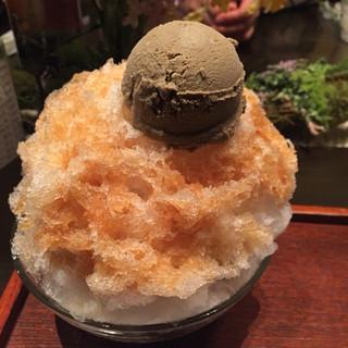 京はやしや そごう横浜10F店 - ほうじ茶氷あんみつ