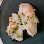 ちよだ鮨 - 赤海老炙り  ¥100
