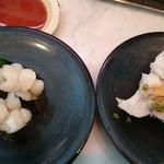 ちよだ鮨 - 小柱軍艦 ¥100   いかなんこつ味噌炙り ¥100