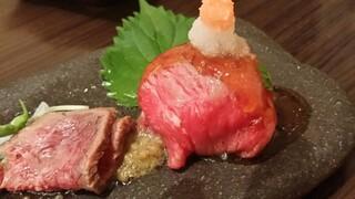 肉處 きっしゃん なんばダイニングメゾン店 - コールビーフ&手鞠寿司