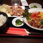 北新地 鳥屋 - 辛味噌冷麺セット900円