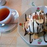 チャント - 林檎紅茶とホットバナナオムレット