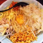 らーめん 郎郎郎 - 油そば(大盛450g)¥720+から揚げ玉、カラメ。