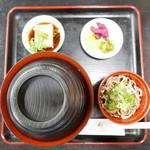 更科 - 親子丼(900円)ミニ蕎麦が付いてます♪