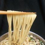 もつ鍋 廣 - 絶妙にマッチするちゃんぽん麺です!これ以外ありえないくらいの相性♪