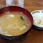 キッチン太郎 - 味噌汁が煮詰まってないのはいいですね^^