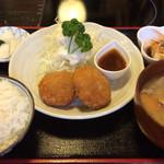 くろ黒亭 - メンチカツ定食 918円