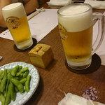 田乃中 - 料理写真:「一番搾り 樽生」 648円