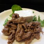 山猫軒 - 見蘭牛のソテーと美味しい木綿豆腐