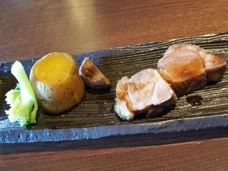 料理茶屋 天の謌 - 真狩産豚肉です。