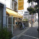 Flat Cafe - 視点:通り沿い南向き(北西方向に少路駅)