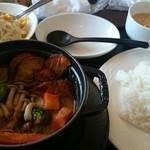 40622460 - 10種類の野菜カレー、サラダ・ドリンク付き 994円(税別)