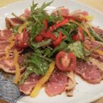 博多とーすと - 地鶏タタキのカルパッチョ風