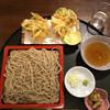 松月庵 八溝そば - 料理写真:かきあげ天もり、大盛り 1150円(税別) 2015.8