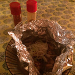 香魚 - 烏賊わたのホイル焼き