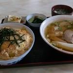 東山 - カツ丼半ラーメン