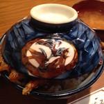 天ぷら 中山 - 天丼の上蓋閉めアップ