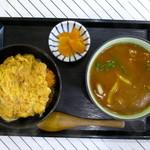 まるはち - 料理写真:かつ丼+カレーうどん(ミニミニセット)