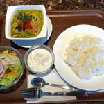 タイレストラン タニサラ - グリーンカレー税込880円+Aセット税込100円