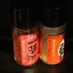 麺屋ブーブーモンスター - 調味料群