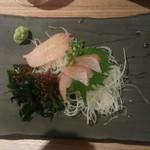 北海道はでっかい道 オホーツクの恵み 網走市 - 20150805 ホッケのお刺身。東京で食べられるとは!