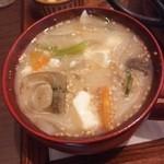 40652379 - 味噌汁お替り!