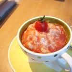 カフェ テーブルテラス - トマトトマトかき氷...500円(ハーフサイズ)