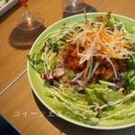 カフェ テーブルテラス - 4種の豆とゴボウのファイバータコライス...800円(ドリンク付き)