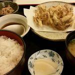 浜市 - かき揚げ定食(ご飯大盛り)