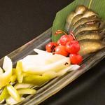 個室×肉×鉄板料理専門店 Enfin - お漬物の盛り合せ セロリ・ショウガ・長なす・さくらんぼ漬け