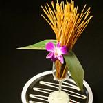 個室×肉×鉄板料理専門店 Enfin - パスタの生け花 やみつき症候群、発令注意! 鮮やかに…