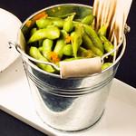 個室×肉×鉄板料理専門店 Enfin - ぷちぷち茶豆。 シンプルにどうぞ♪