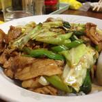 ラーメン広場麺福 - 料理写真:回鍋肉飯