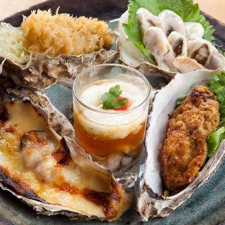 厚岸産牡蠣を使った牡蠣フライ・牡蠣のルイベなど牡蠣料理の数々