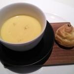 40661198 - チーズ風味のシュー 冷製スープ