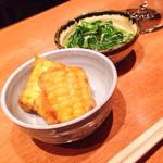 森川 - 夜「とうもろこしの天ぷらと野菜」