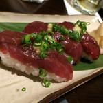 ほっこり - 桜肉の握り特製大蒜醤油