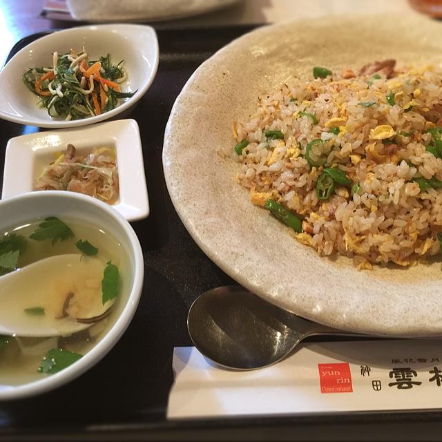 神田 雲林 - 醤油豚と甘長グリーンの黒胡椒香る雲林チャーハン